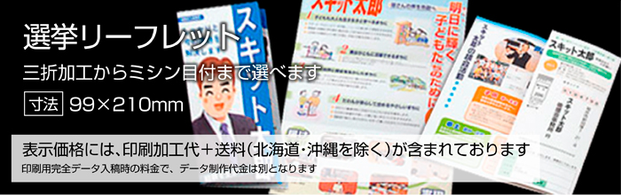 選挙後援会リーフレット印刷