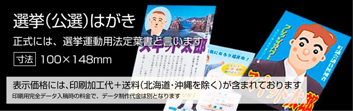 カラー印刷(ハガキ) 中5日